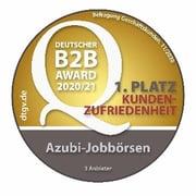 Deutscher B2B Award_1. Platz Kundenzufriedenheit