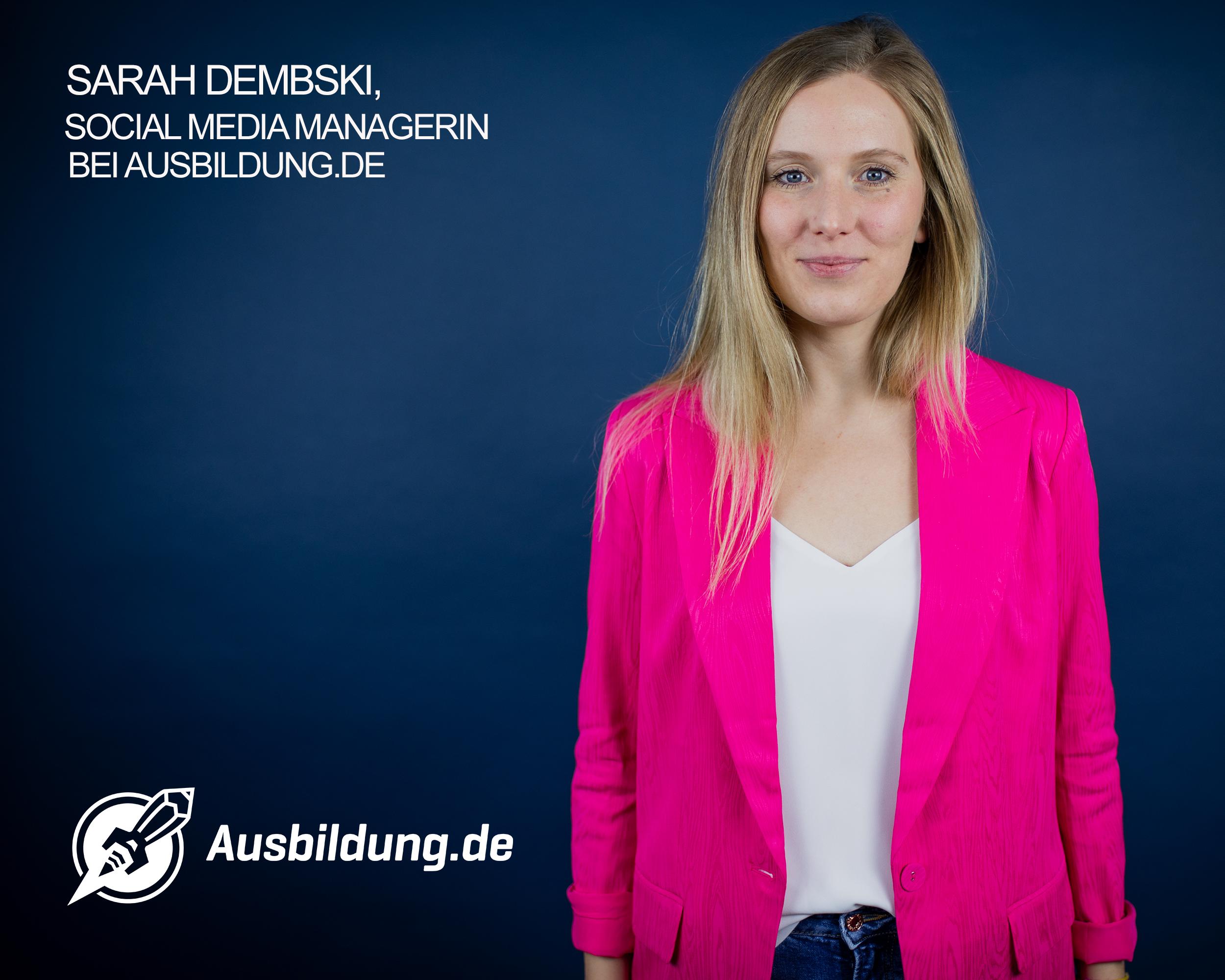 Sarah Dembski Social Media Managerin